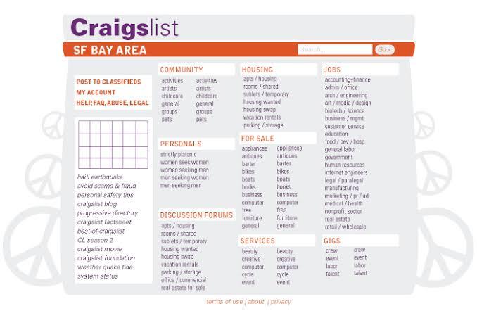 Craigslist websites like backpage Top 17