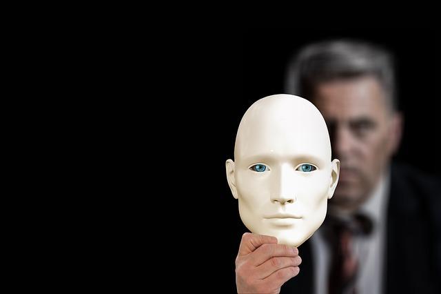 mask, businessman, kaufmann