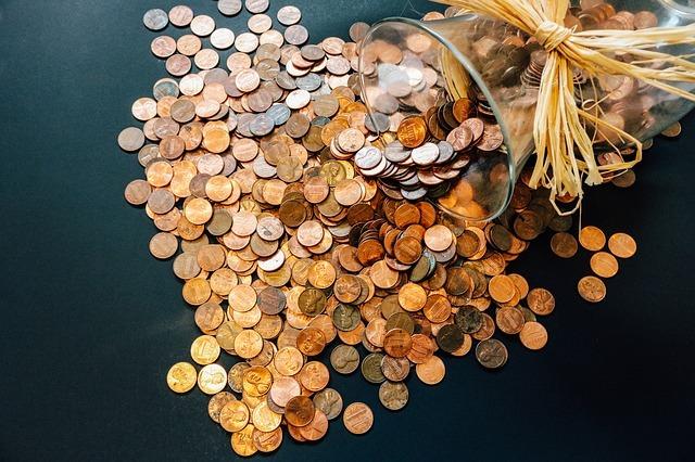 coins, pennies, money